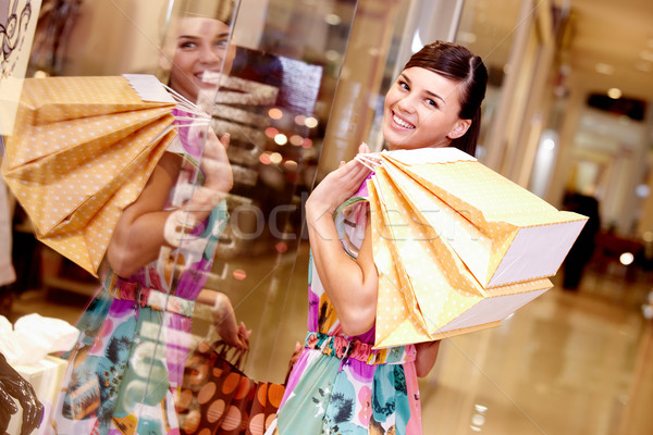 Girl with bags Stock photo © pressmaster