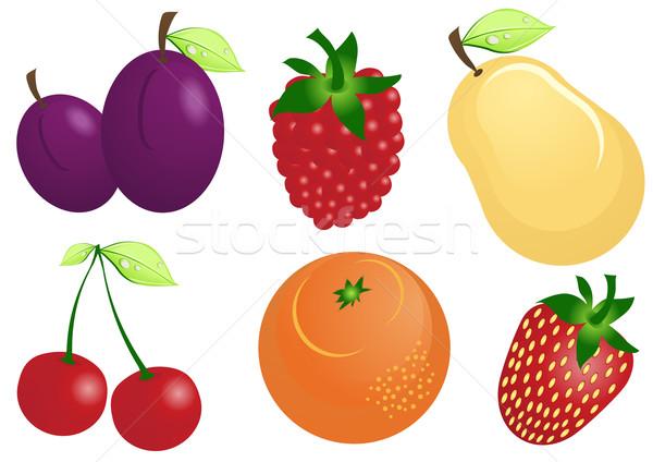 fruit-icons Stock photo © pressmaster
