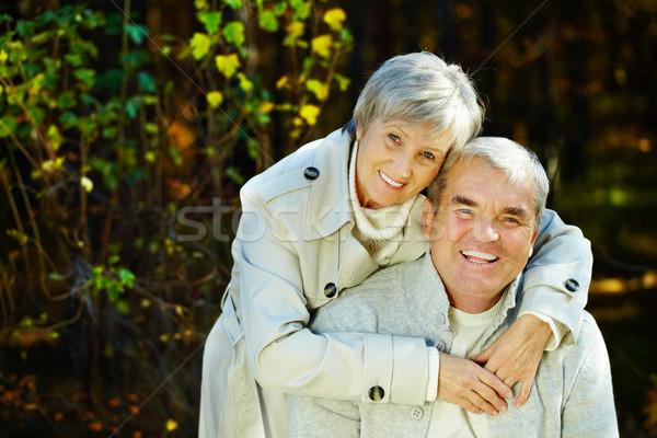 Stockfoto: Volwassen · paar · foto · verliefd · man
