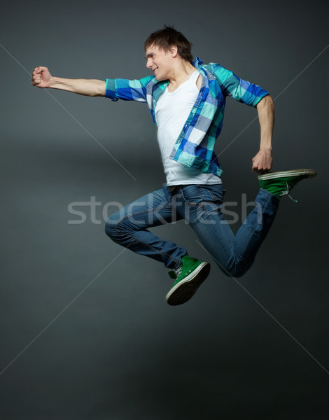 Punching in midair Stock photo © pressmaster