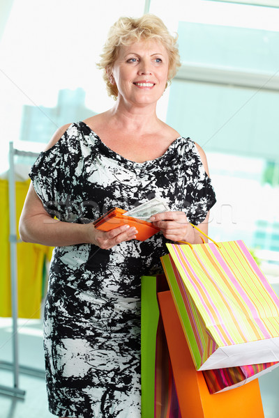 Mature shopper Stock photo © pressmaster