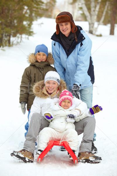 Famiglia parco felice ragazzi genitori donna Foto d'archivio © pressmaster