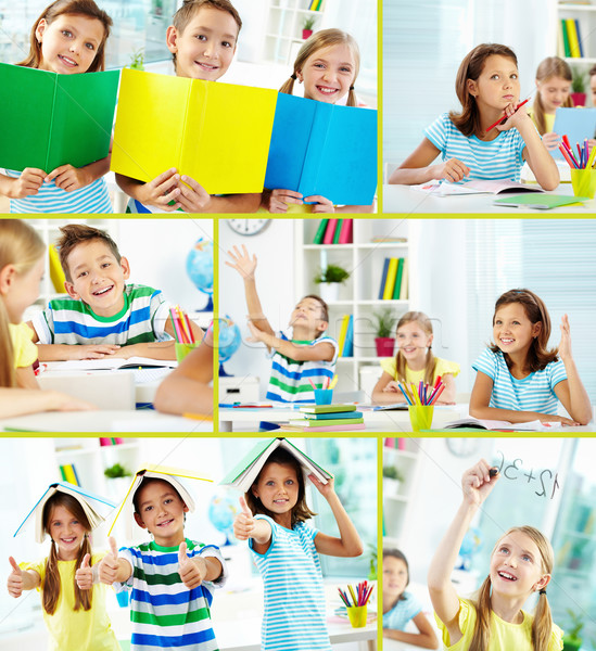 Cheerful learners Stock photo © pressmaster