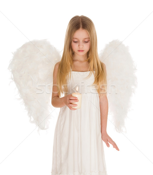 Paisible ange image cute fille blanche Photo stock © pressmaster