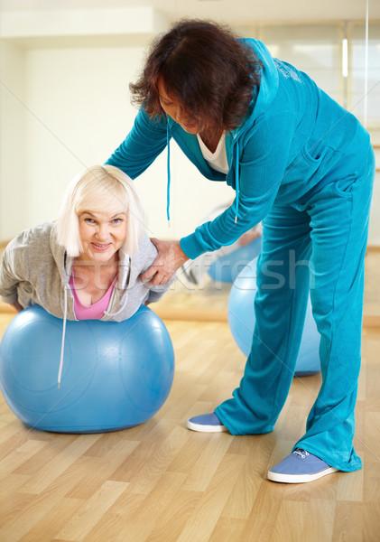 Stock fotó: Testmozgás · portré · sportos · női · testmozgás · fitnessz