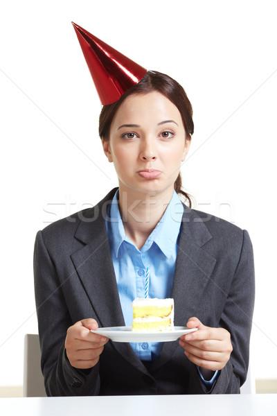 Employee with cake Stock photo © pressmaster