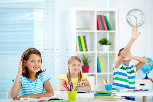 Smart портрет девушки стороны месте счастливым Сток-фото © pressmaster