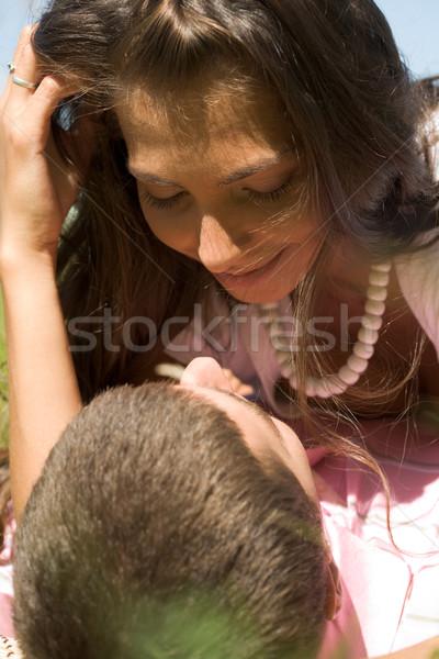 Romântico momento feliz casal íntimo Foto stock © pressmaster