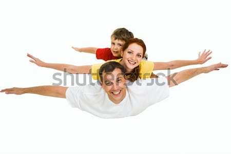Légy fotó család repülés együtt égbolt Stock fotó © pressmaster