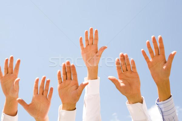 Photo stock: Paix · plusieurs · humaine · mains