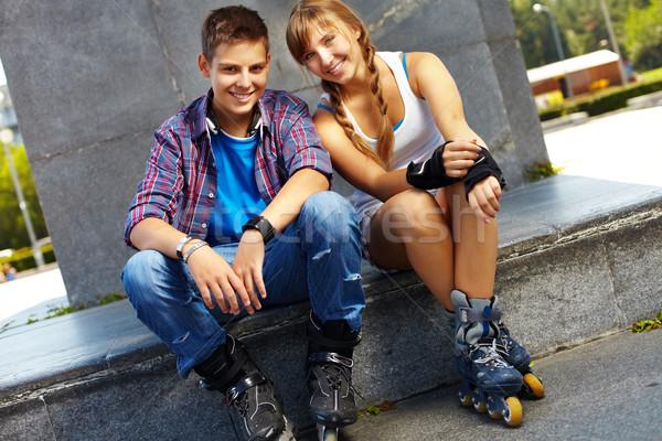 Youthful skaters Stock photo © pressmaster