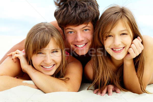 Tanning friends Stock photo © pressmaster