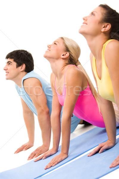 Stok fotoğraf: Egzersiz · portre · genç · insanlar