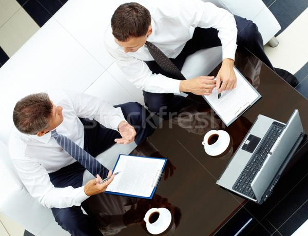 Stockfoto: Raadpleging · afbeelding · twee · bespreken · werk