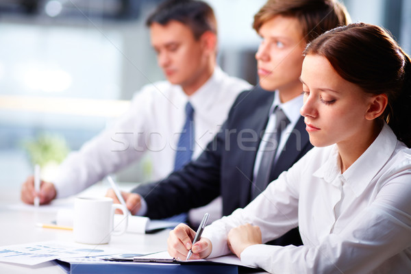 Diligent business students Stock photo © pressmaster