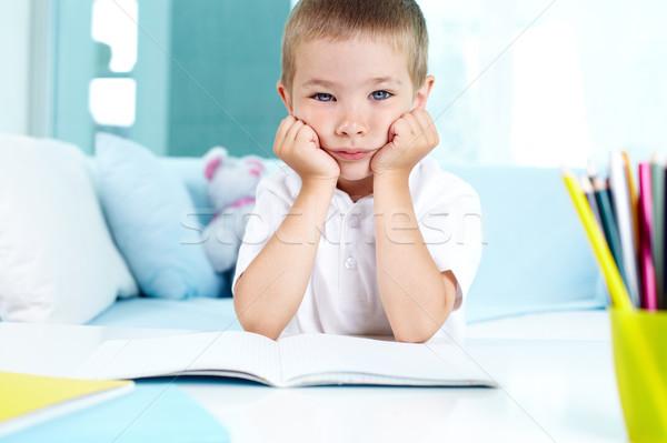 Praca domowa dziecko nie uczucie jak dziecko Zdjęcia stock © pressmaster