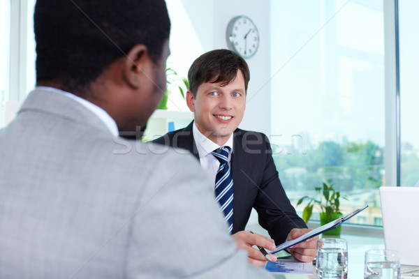 Businessman at attention Stock photo © pressmaster