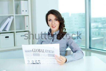 Female with clipboard Stock photo © pressmaster