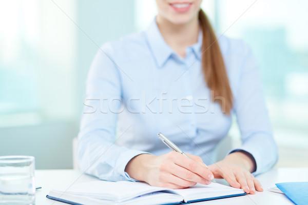 Сток-фото: Дать · плана · изображение · деловая · женщина · рук