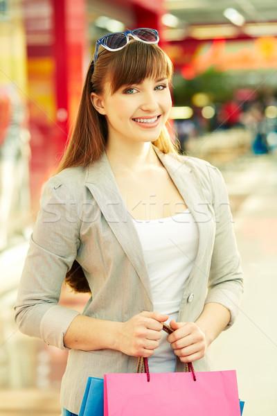 Shopper in the mall Stock photo © pressmaster