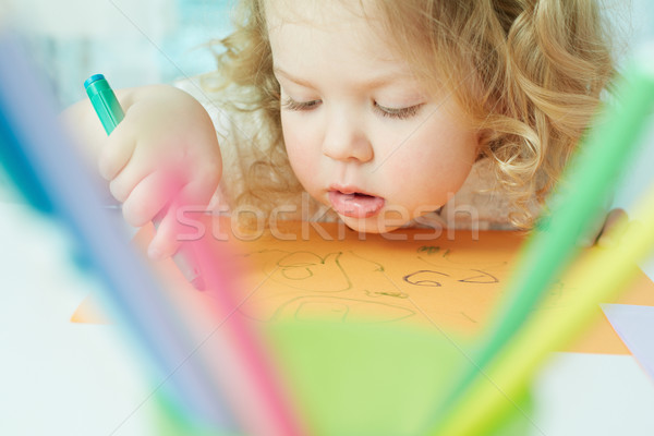 Absorbed in drawing Stock photo © pressmaster