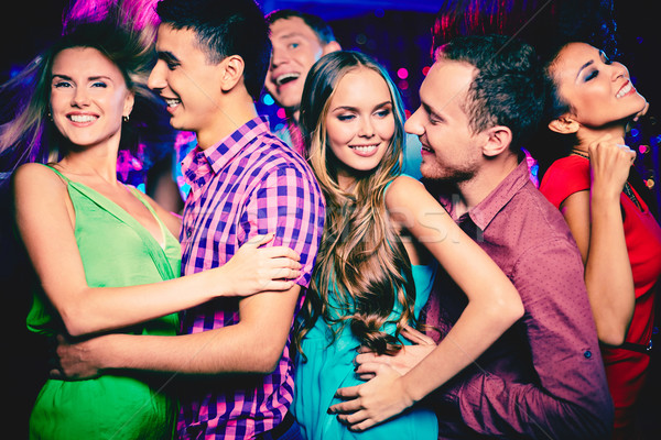 Friends clubbing Stock photo © pressmaster