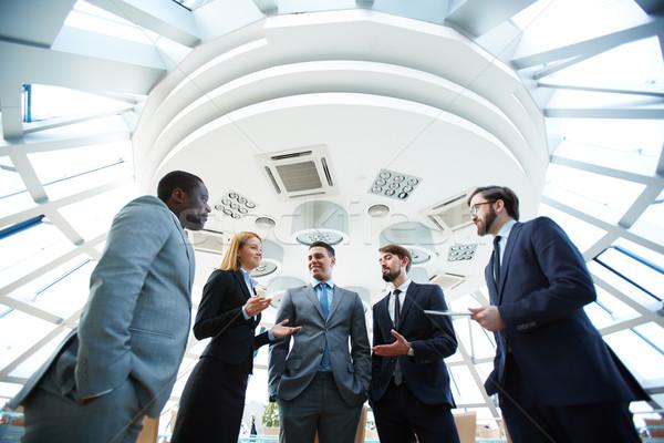 Business conversation Stock photo © pressmaster