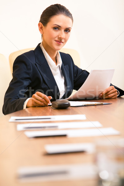 Stock photo: Confident secretary