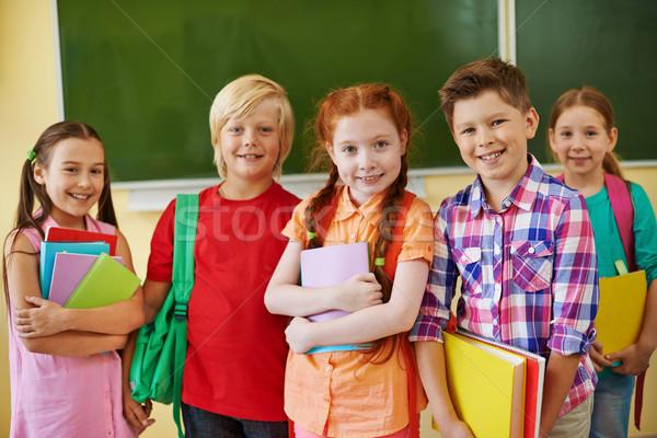 Stock photo: Company of school friends