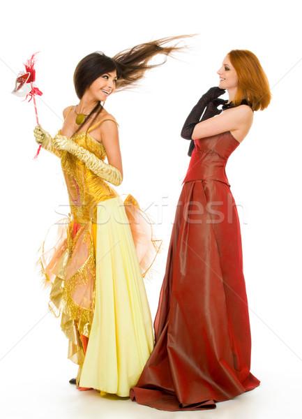 фото радостный модный Платья белый Сток-фото © pressmaster