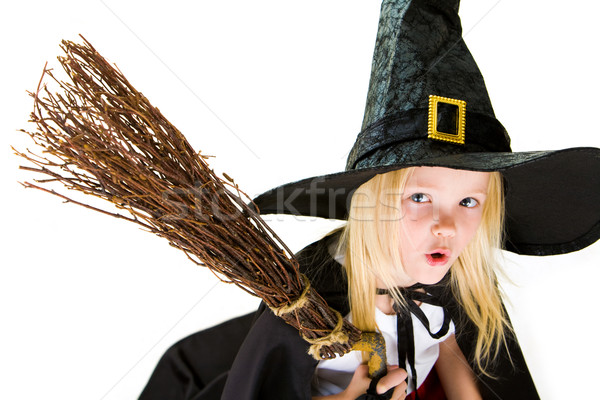 Stock photo: Frightening witch