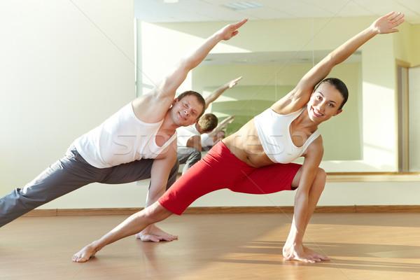 Happy workout Stock photo © pressmaster
