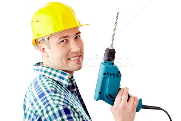 Man with drill Stock photo © pressmaster