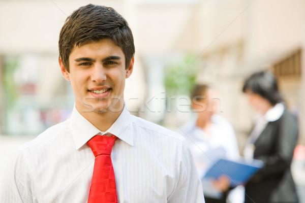 Stok fotoğraf: Erkek · lider · portre · yakışıklı · işveren · gülen