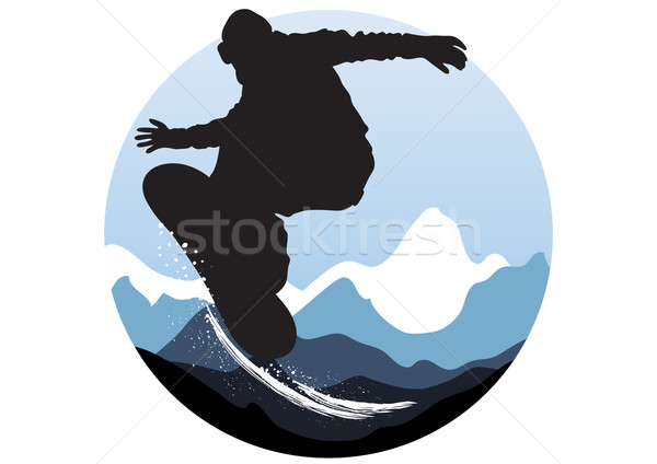 snowboarder jumping  Stock photo © pressmaster