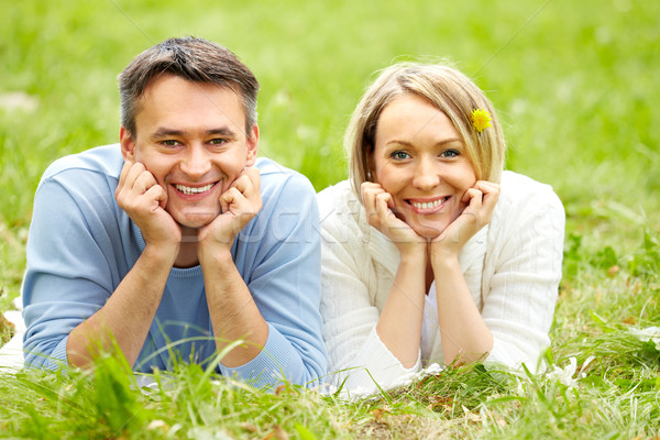 Gelukkig stemming portret paar naar camera Stockfoto © pressmaster