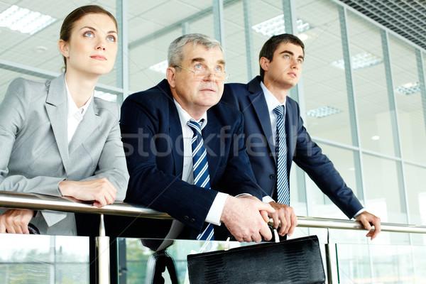 Perspektif iş ekibi bakıyor kadın takım gelecek Stok fotoğraf © pressmaster