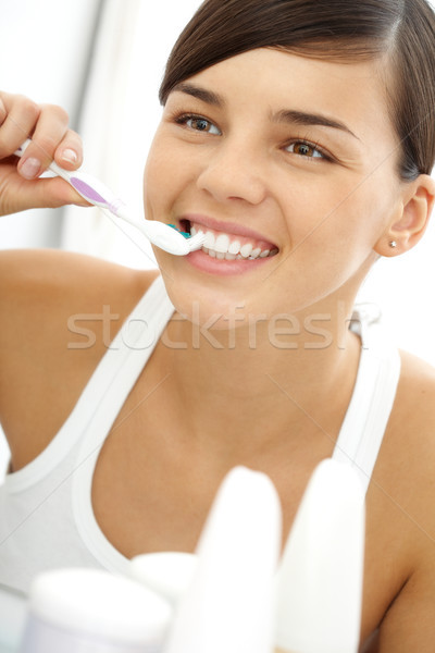 Brushing teeth Stock photo © pressmaster