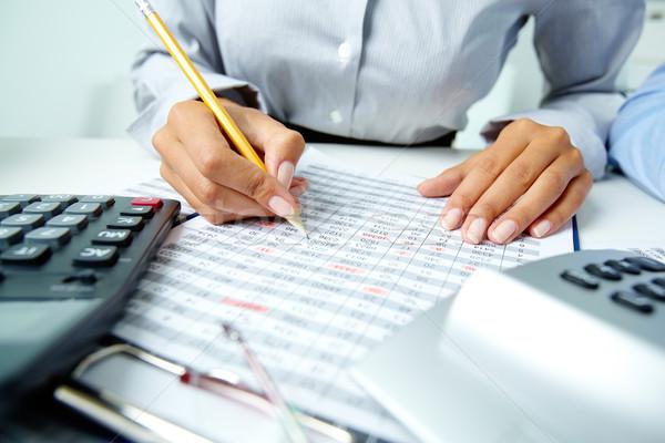 Accounting notes Stock photo © pressmaster