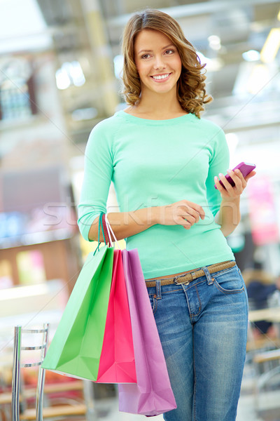 Girl with purchases Stock photo © pressmaster