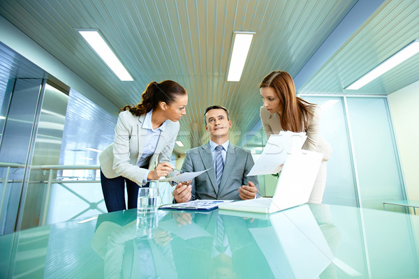 Boss and secretaries Stock photo © pressmaster