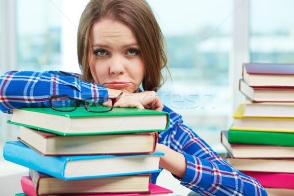 Problémás portré női gond tanul szépség Stock fotó © pressmaster