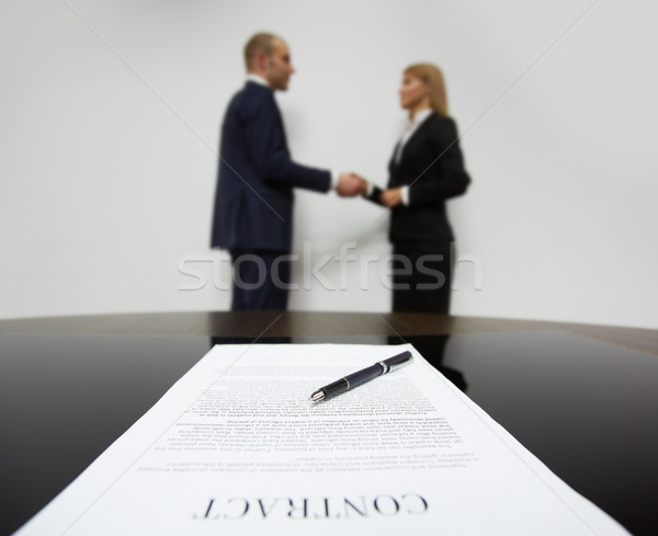 Signed contract Stock photo © pressmaster