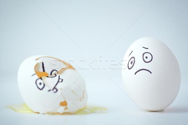 Jaj żal smutne easter egg podziale jeden Zdjęcia stock © pressmaster