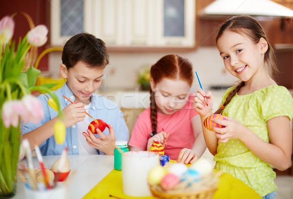 Easter schoolwork Stock photo © pressmaster