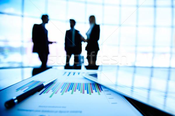 Stock fotó: Irat · touchpad · digitális · tabletta · pénzügyi · toll