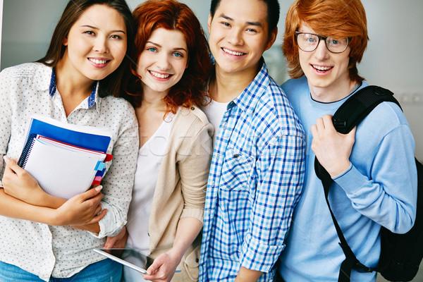 Amigável pessoas retrato feliz faculdade estudantes Foto stock © pressmaster