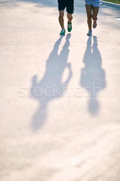 影 ランナー 写真 日付 脚 を実行して ストックフォト © pressmaster