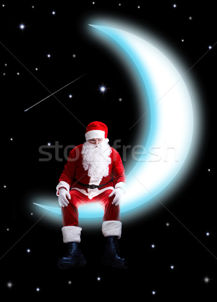 Santa on moon Stock photo © pressmaster