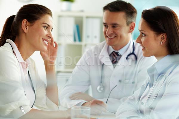 Lekarze pacjenta portret konsultacji szpitala kobieta Zdjęcia stock © pressmaster